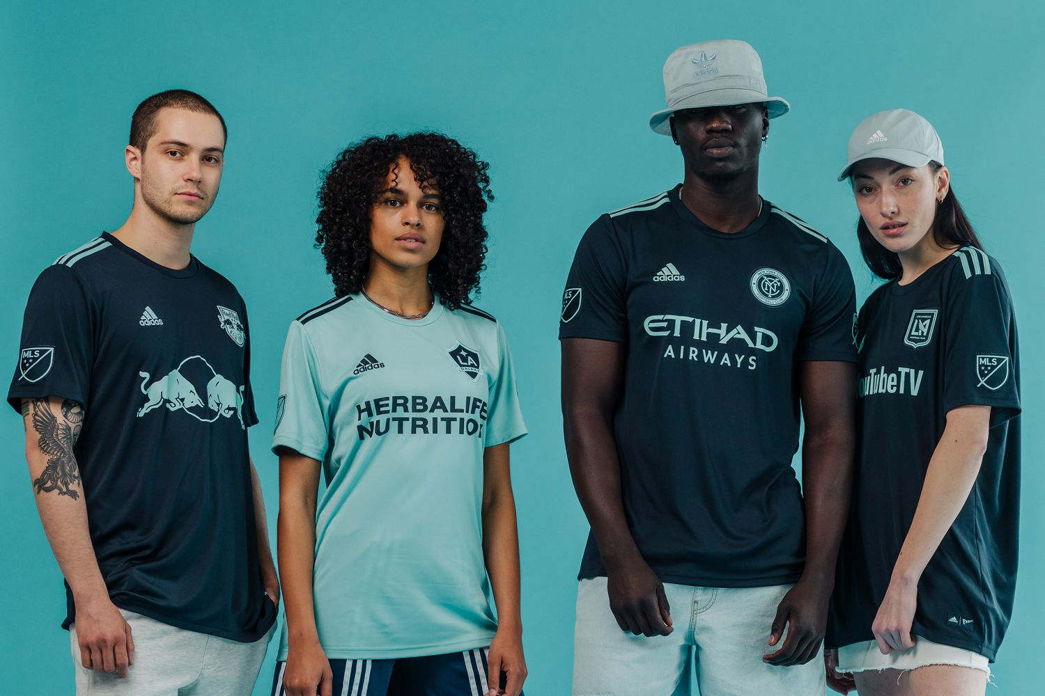 A selection of the 2019 adidas Parley kits for MLS.