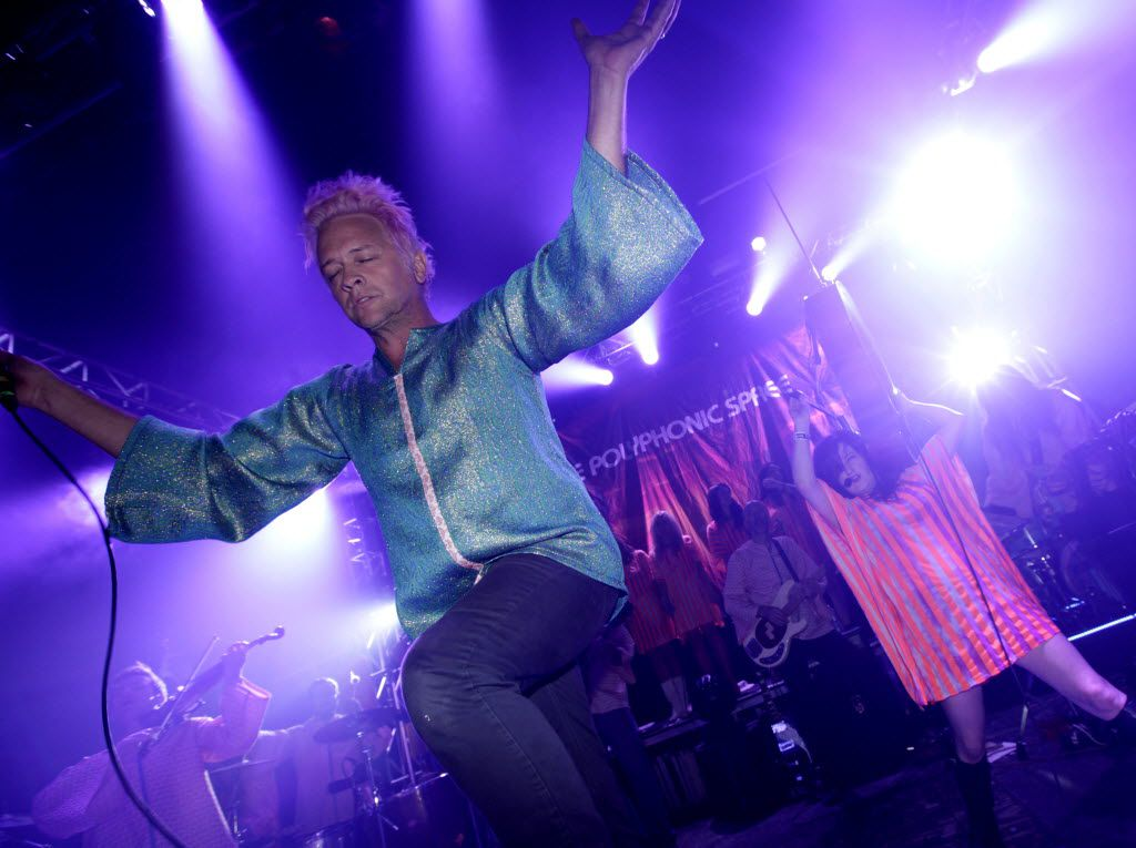 The Polyphonic Spree performs at Granada Theater in Dallas, TX, on Oct. 17, 2015.