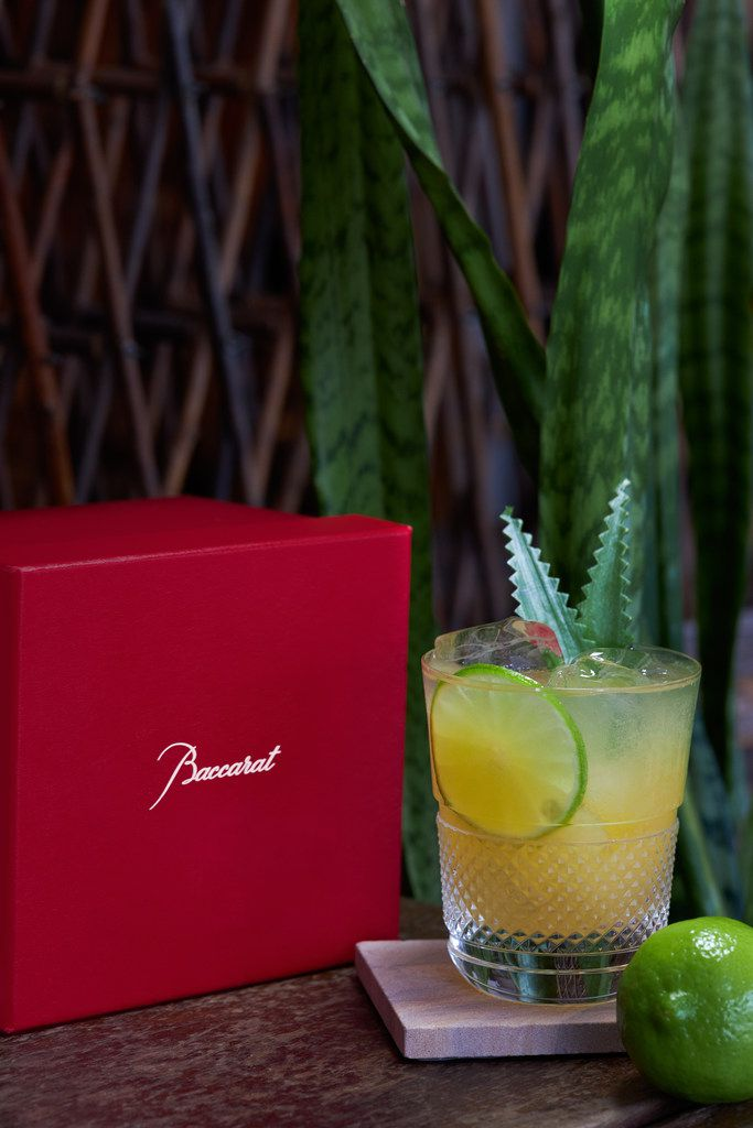Fleming's Prime Steakhouse and Wine Bar in Plano is pouring a $100 margarita made with Tequila Ocho and served in a Baccarat tumbler.