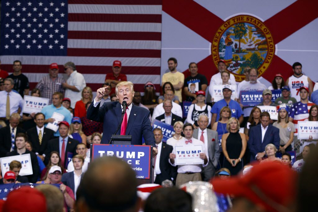 Republican presidential nominee Donald Trump campaigned in Jacksonville, Fla., on Wednesday.