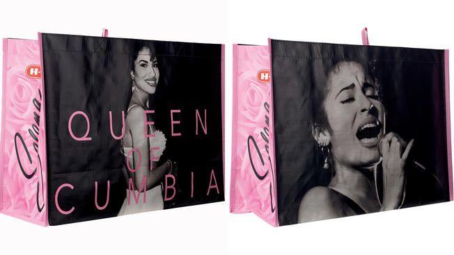 Las tiendas H-E-B de Texas lanza bolsas de Selena. Foto Telemundo.