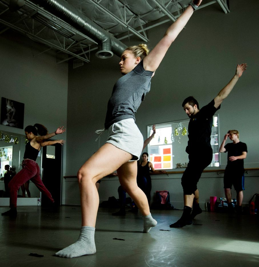 Dancers rehearse for the upcoming Wanderlust Dance Project show at the Majestic Theatre.