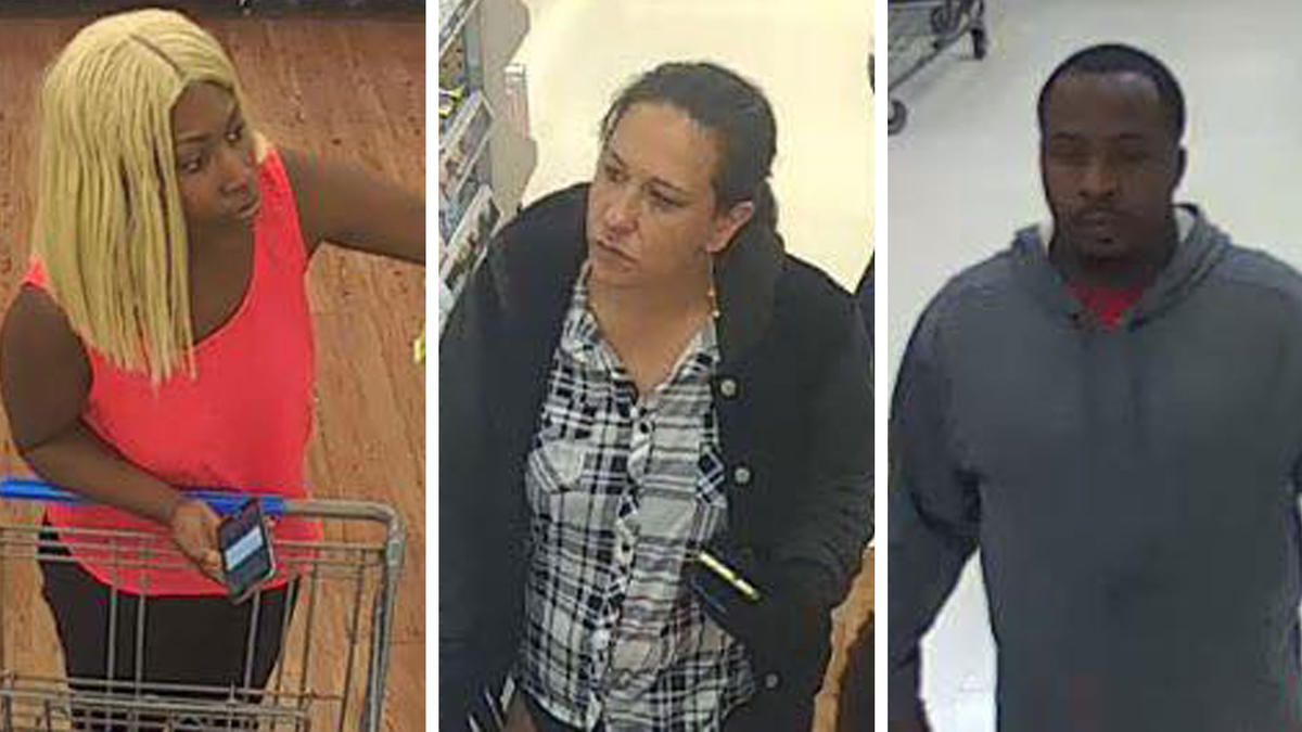 Three robbery suspects are wanted after a 71-year-old woman was shocked with a stun gun and had her purse snatched last week.
