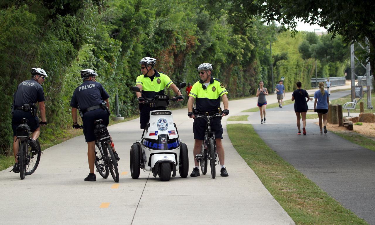 La policía de Dallas aumentó la vigilancia en el Katy Trail tras la serie de asaltos recientes. (ARCHIVO/DMN)