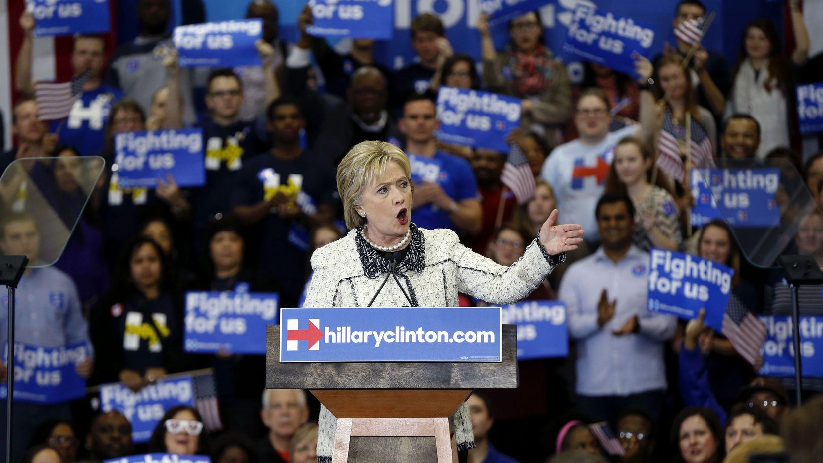 La candidata Demócrata Hillary Clinton en un acto de campaña en Carolina del Sur.