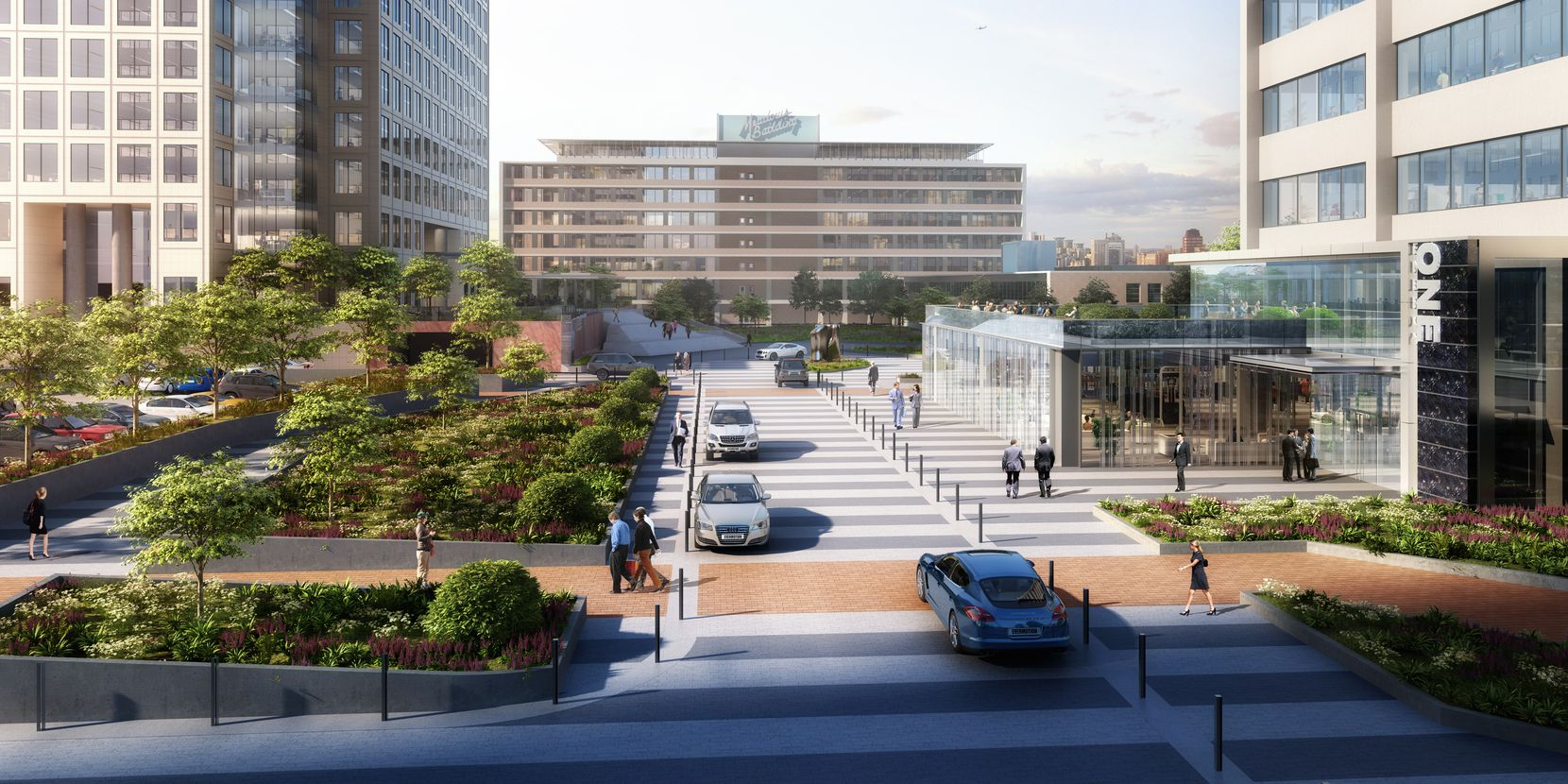 Gensler did the masterplan for the renovation of the three Energy Square towers and historic Meadows Building  that will be connected with a new park, boulevard and pedestrian areas.