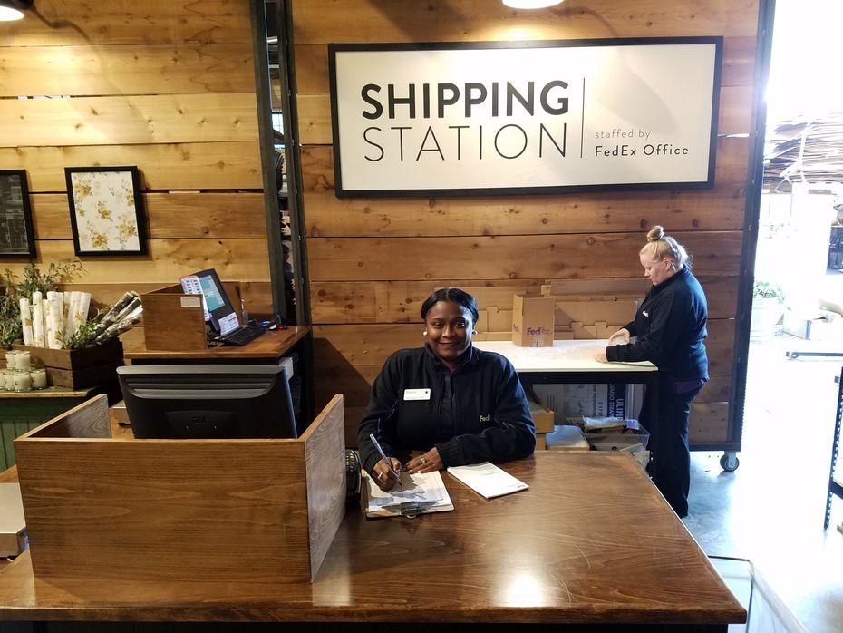 Plano-based FedEx Office opened a kiosk inside Magnolia Market in Waco.