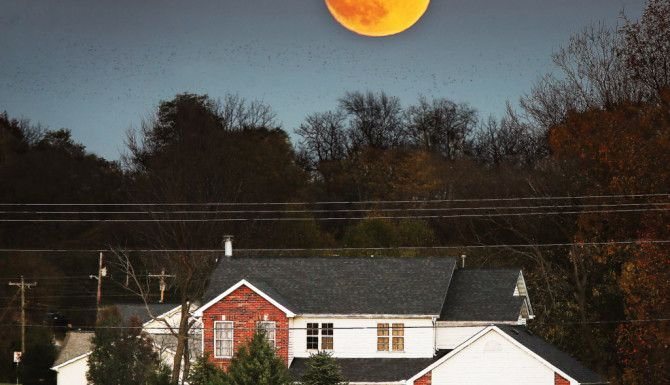 La Súper Luna desde Illinois./AP