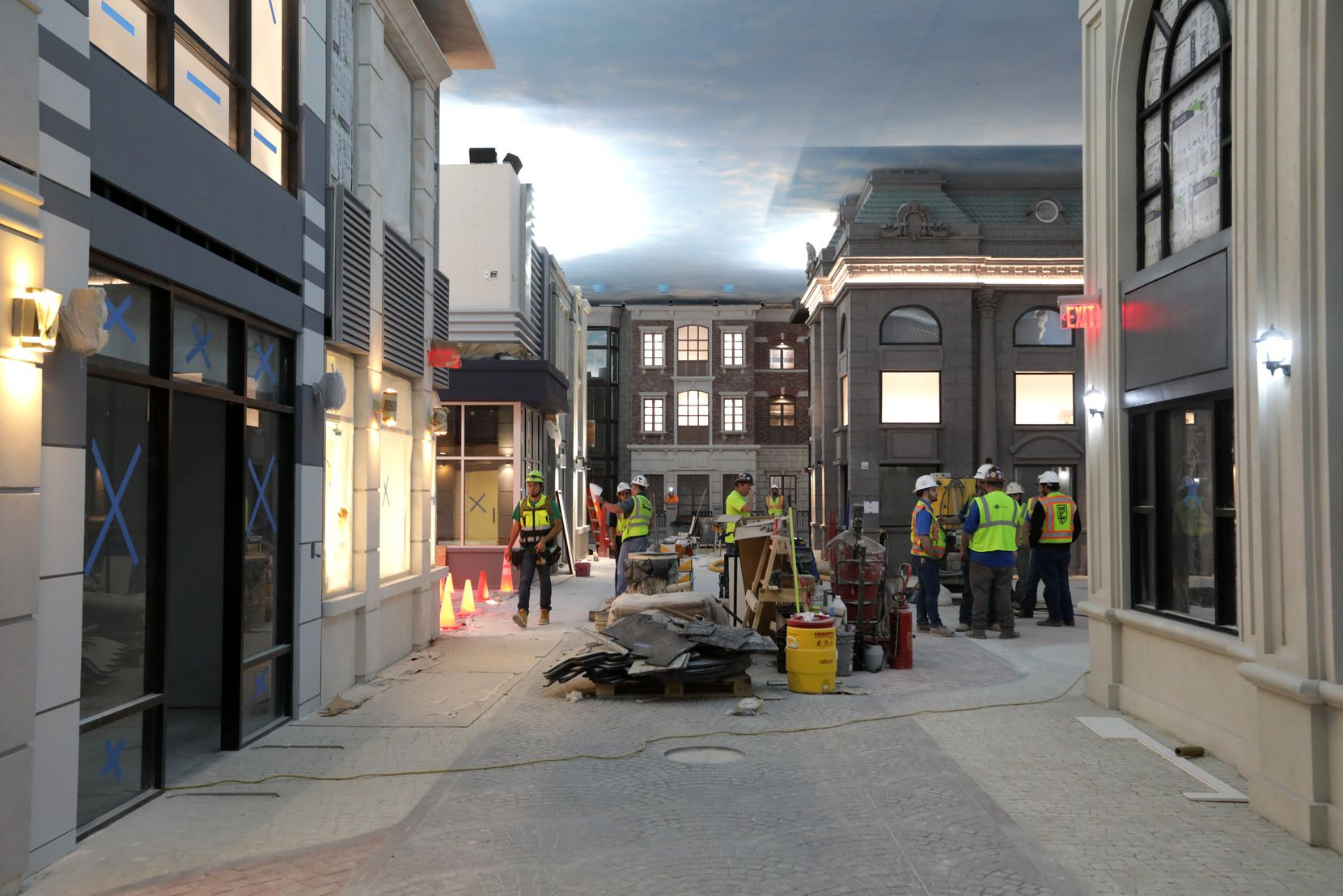 Construction of KidZania at Stonebriar Centre in Frisco.