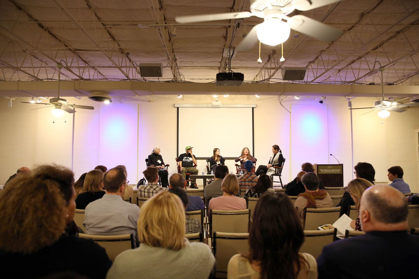 Dallas Festival of Ideas for the Cultural City Forum hosts a panel of community members to discuss culture and art at The Dallas Institute of Humanities and Culture in Dallas, Texas, Tuesday, February 21, 2017.