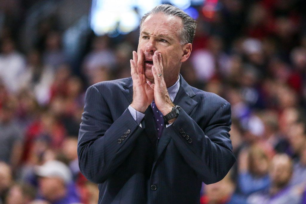TCU Horned Frogs head coach Jamie Dixon calls out a play during an NCAA basketball game at Schollmaier Arena Fort Worth, Texas on Saturday, March 2, 2019. (Shaban Athuman/The Dallas Morning News)