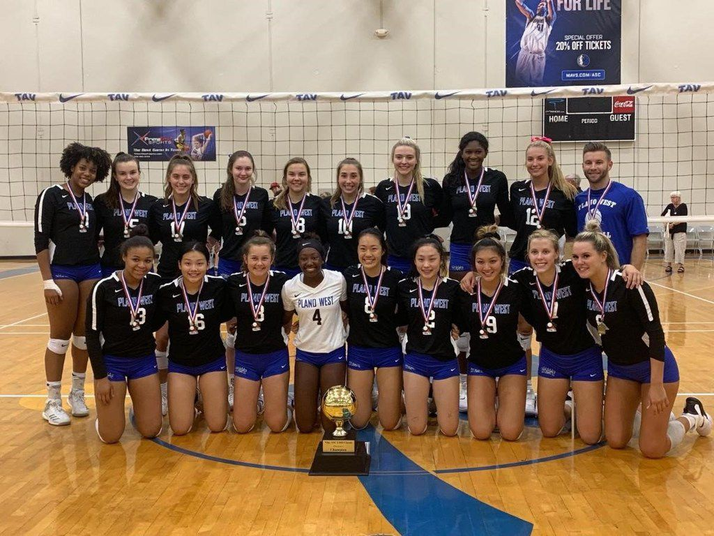 The Plano West volleyball team won the Nike ASC/LISD Classic on Saturday. (Courtesy photo)