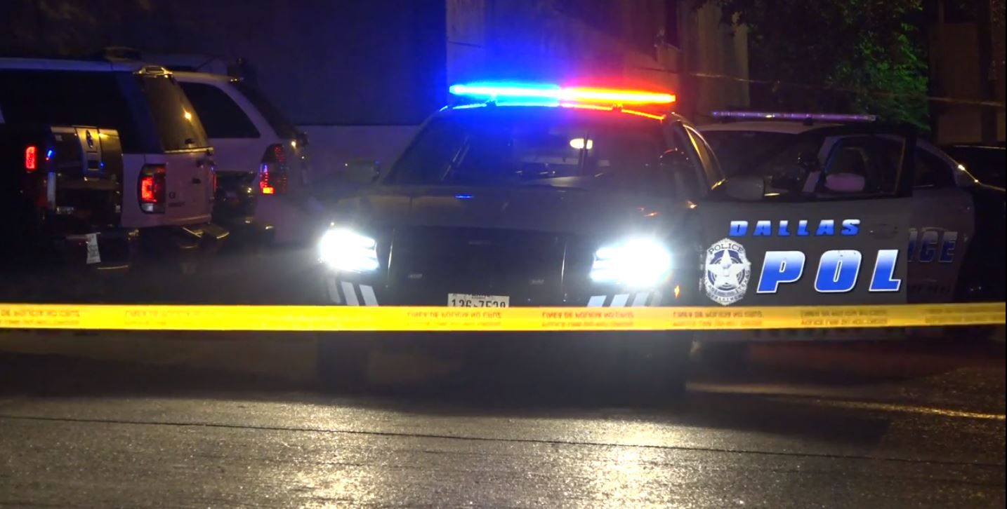 Neighbors heard gunshots at the apartments on Grand Avenue, but the killer had fled by the time police arrived.