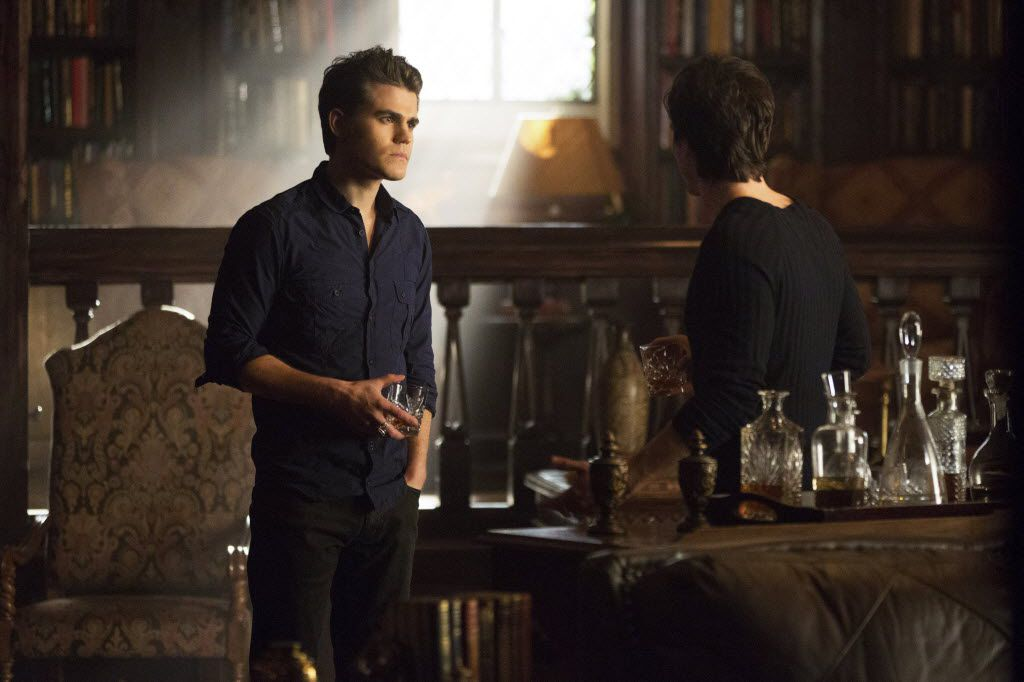 "Paul Wesley, left, as Stefan and Ian Somerhalder as Damon, in a scene from Season 4 of ""The Originals."""