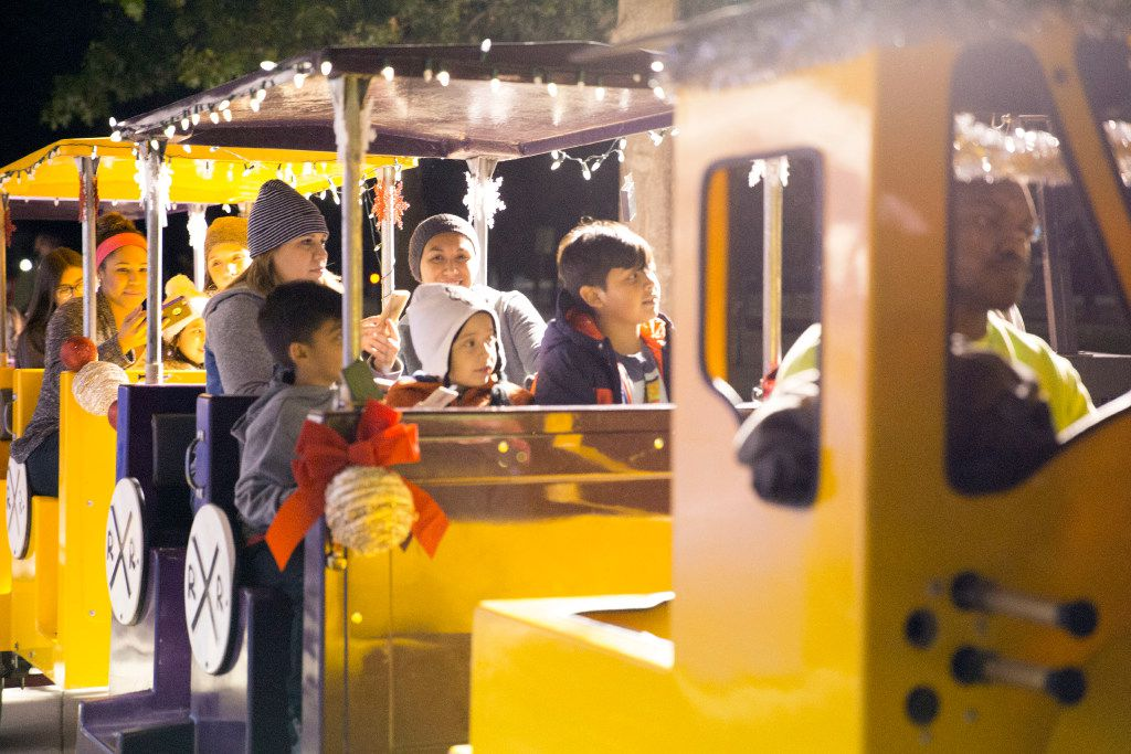 Peppermint Park is a new addition at Christkindl Market, with activities for children including a train ride, in Arlington, Texas, Friday, November 25, 2016. (Allison Slomowitz/ Special Contributor)