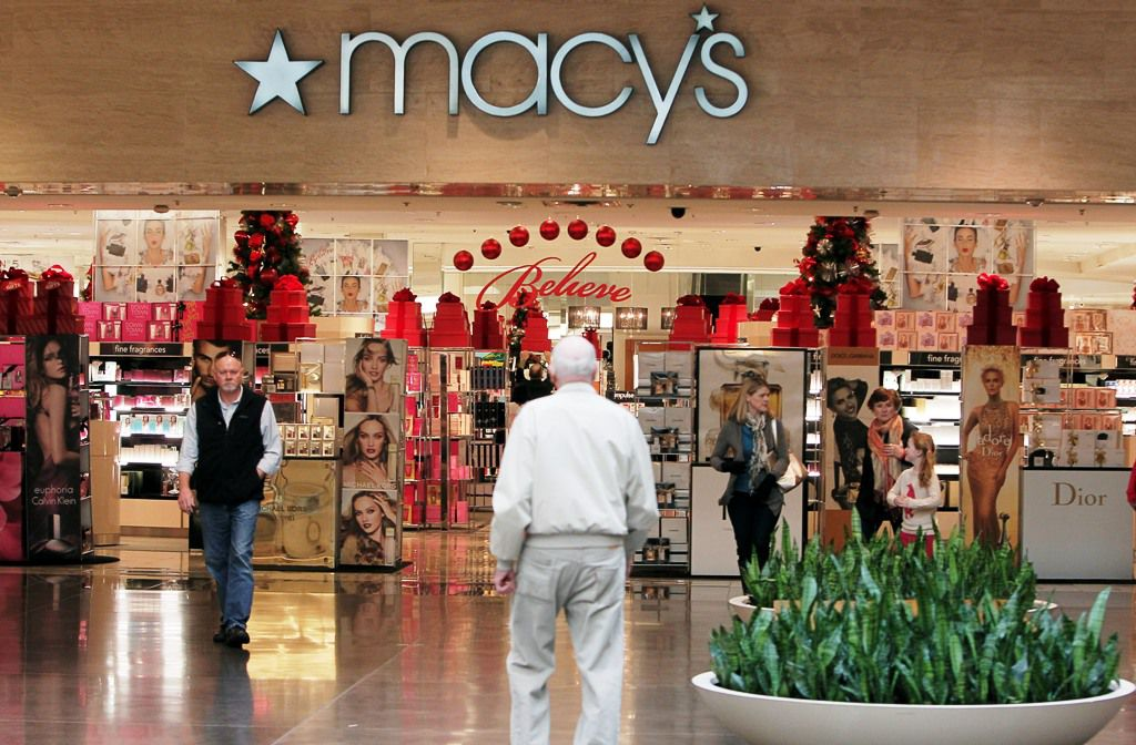 A shoppers outside of Macy's at NorthPark Center, Tuesday, Nov. 26, 2013. (BRANDON WADE/Special Contributor)