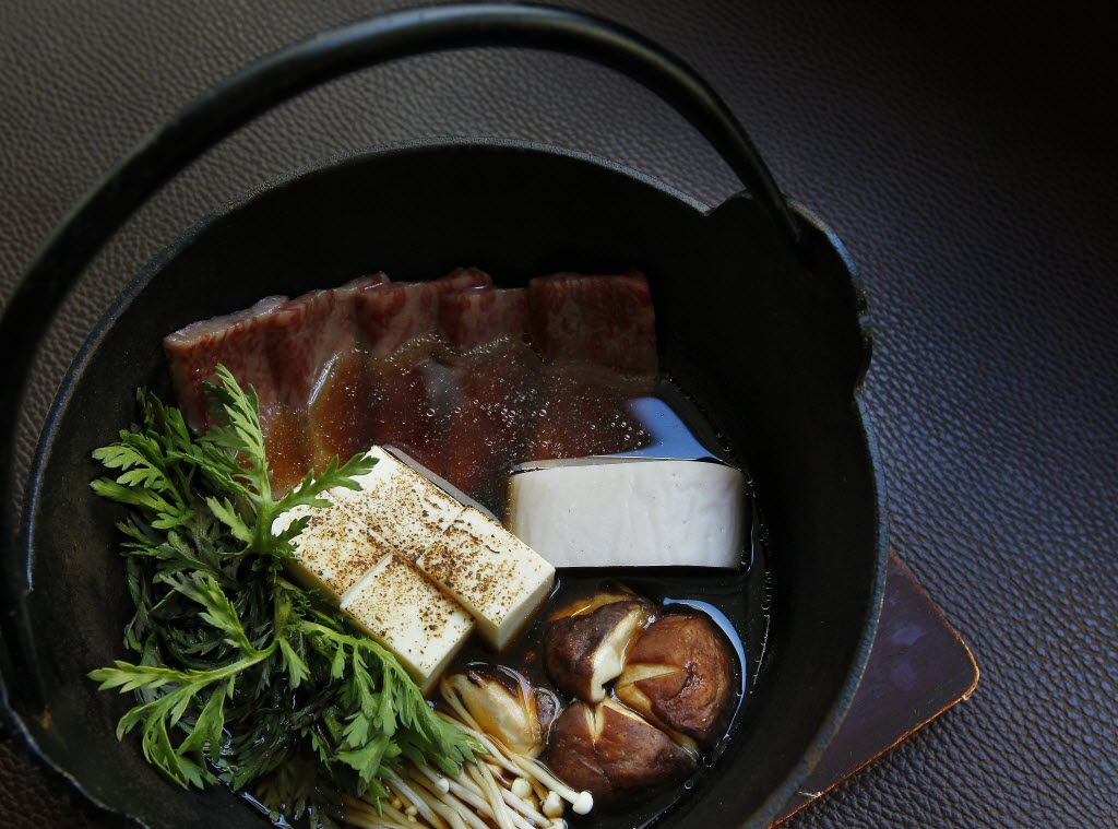 Country-style gyu nabe at Tei-An is an example of nabemono.