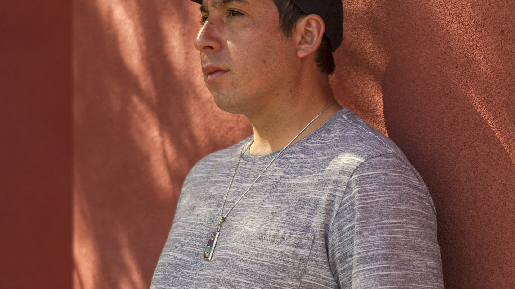 Tommy Orange, the author of  There There,  at the Indian American Institute of Art in Santa Fe.