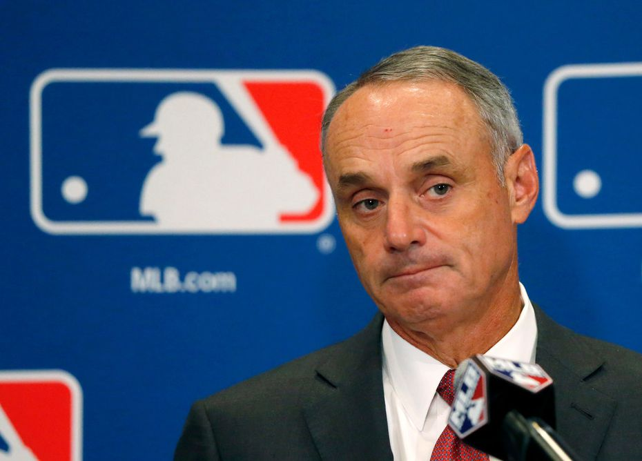 Commissioner Rob Manfred is scheduled to be in town Thursday when the Rangers break ground on their new ballpark.