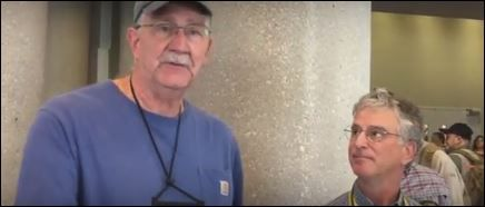 Hickok45, (left), the YouTube star who has a huge influence helping Americans figure out which gun to buy, visits Dallas for the 2018 NRA convention.