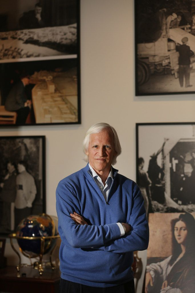 Robert Edsel is involved in a new television series titled Hunting Nazi Treasure. Edsel wrote the book The Monuments Men, which was turned into a film. Edsel was photographed in his offices at the Monuments Men Foundation in Dallas Monday April 9, 2018.