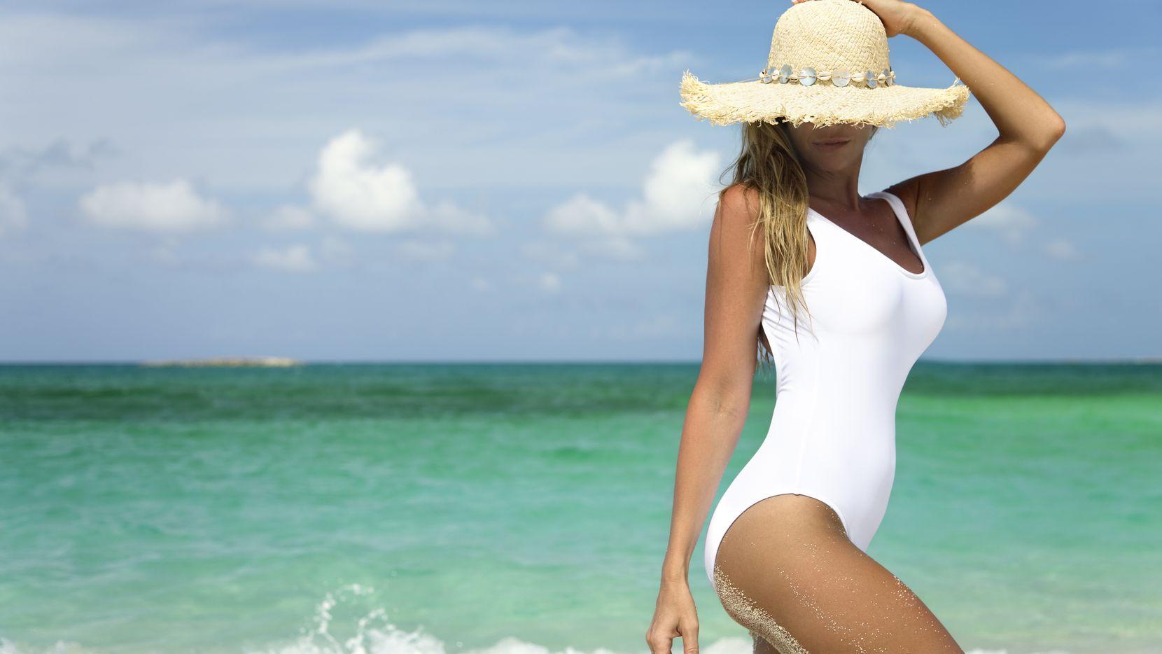 One-piece swimsuit.