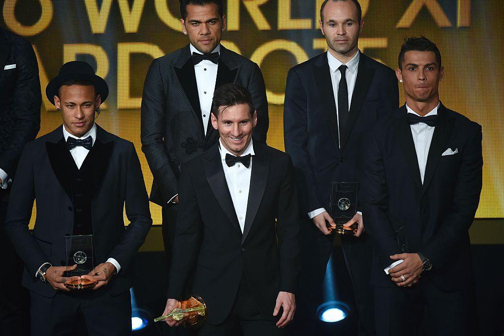 Los candidatos del 2015 al Balón de Oro de la FIFA. Getty Images
