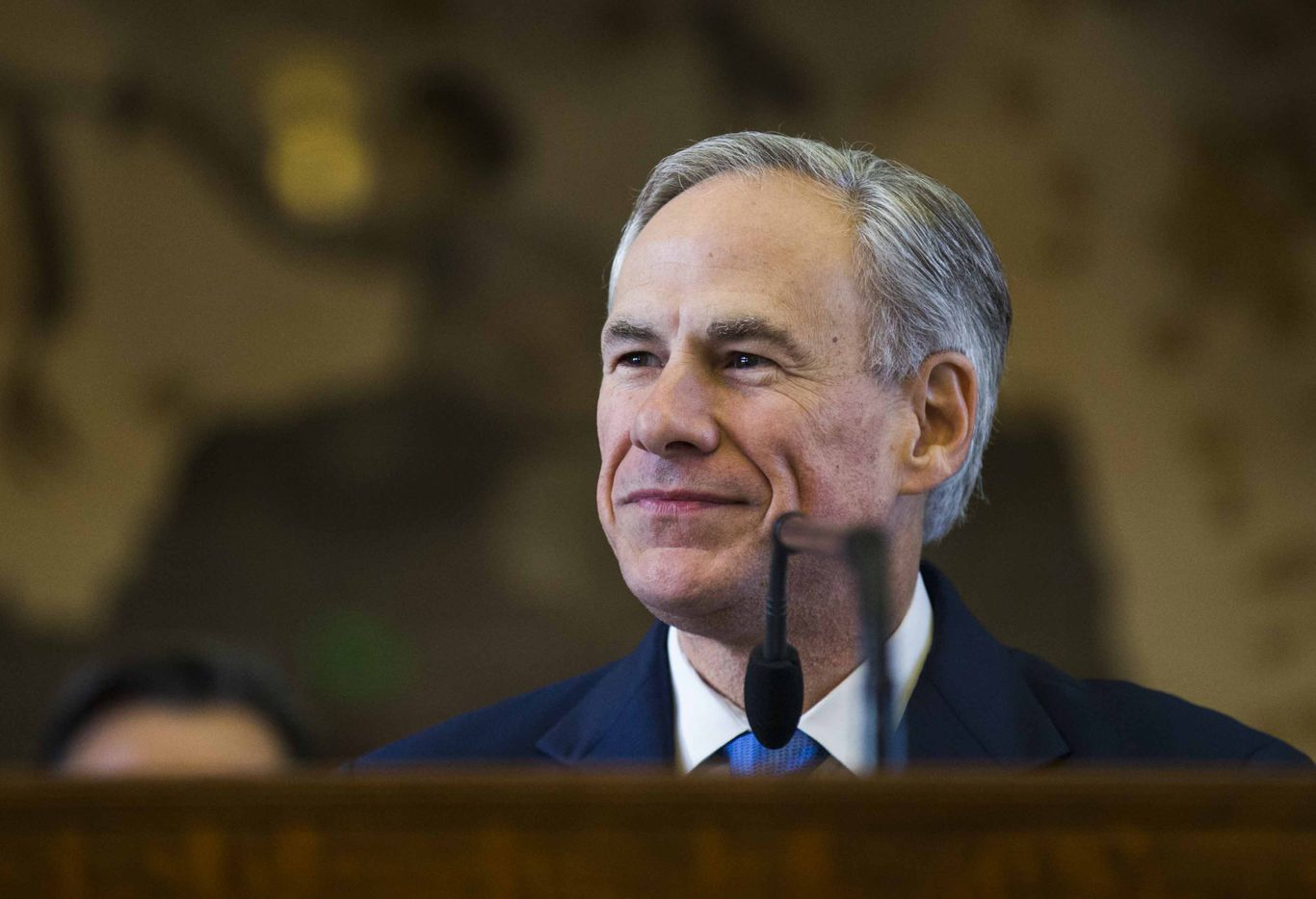 Texas Gov. Greg Abbott speaks during the first day of the 85th Texas Legislative Session at the Texas State Capitol in Austin.