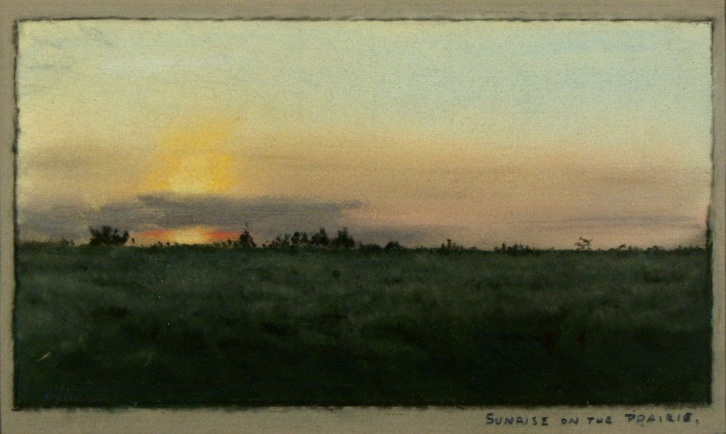 Sunrise on the Prairie  (1885),  by Frank Reaugh.  (Panhandle-Plains Historical Museum, Canyon, Texas)