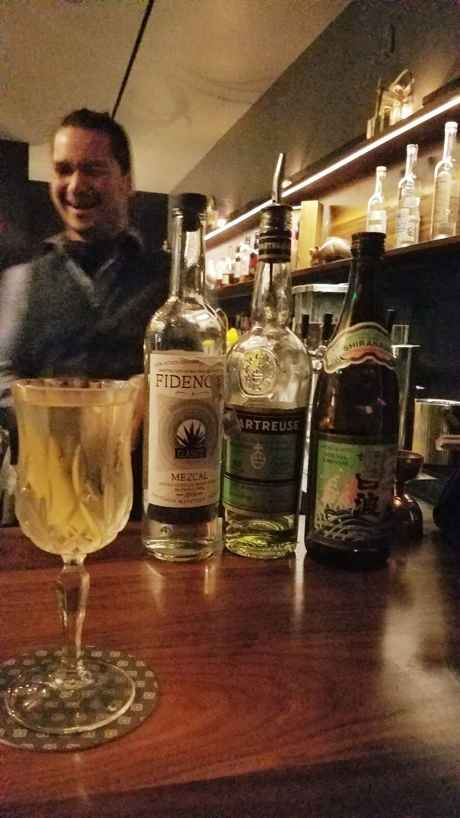 Shochu can be challenging to use in cocktails because of its delicate, low-proof nature, but at Jettison, in West Dallas, bar manager George Kaiho's beautifully blends earthy sweet potato-based shochu with mezcal and vegetal Green Chartreuse for his Earth Wind and Fire.