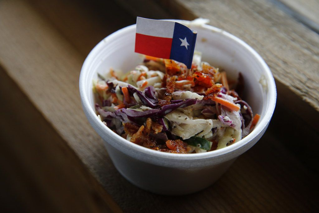 Cole slaw at Ferris Wheelers Backyard & BBQ in Dallas on Sept. 25, 2017.   (Nathan Hunsinger/The Dallas Morning News)