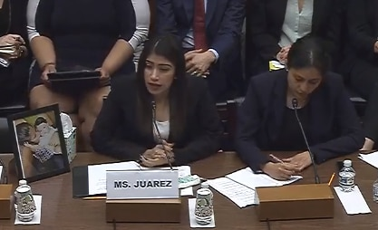 Guatemalan migrant Yazmin Juarez recounted the death of her daughter, 21-month-old Mariee, after 20 days in ICE custody in Dilley, Texas.
