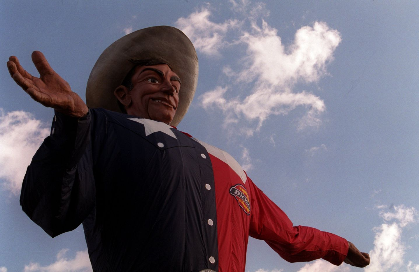 Big Tex in 2002, his 50th year at the State Fair of Texas.