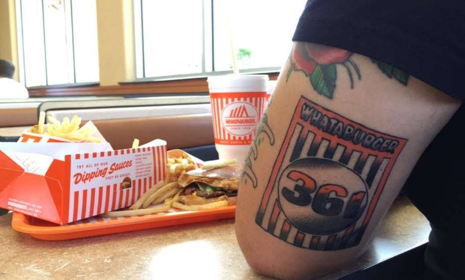 Blake Miller, who lives in Ingleside, Texas, went so far as to get a Whataburger tattoo. He won $3,000 in gift cards to Whataburger.