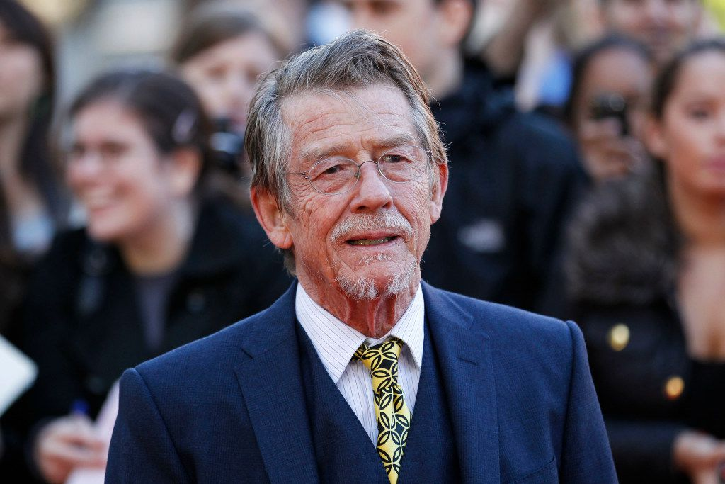 """File - This Sep. 13, 2011, shows British actor and cast member John Hurt arriving for the UK film premiere of """"Tinker Tailor Soldier Spy"""" at the BFI Southbank in London."""