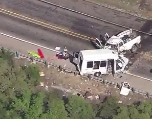 The collision happened on Highway 83, about 75 miles west of San Antonio.