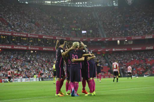 El Barcelona es líder de la liga española. Foto AP