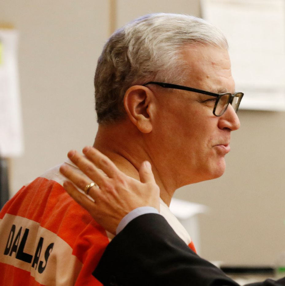 John Battaglia, left, with his attorney, Greg Gardner in Judge Robert Burns'€™ courtroom for his competency hearing at the Frank Crowley Courts Building on Monday, November 14, 2016.