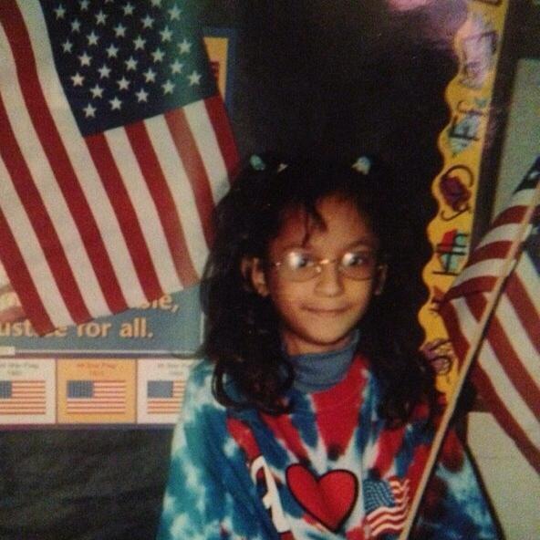 Reporter Cassandra Jaramillo in elementary school.