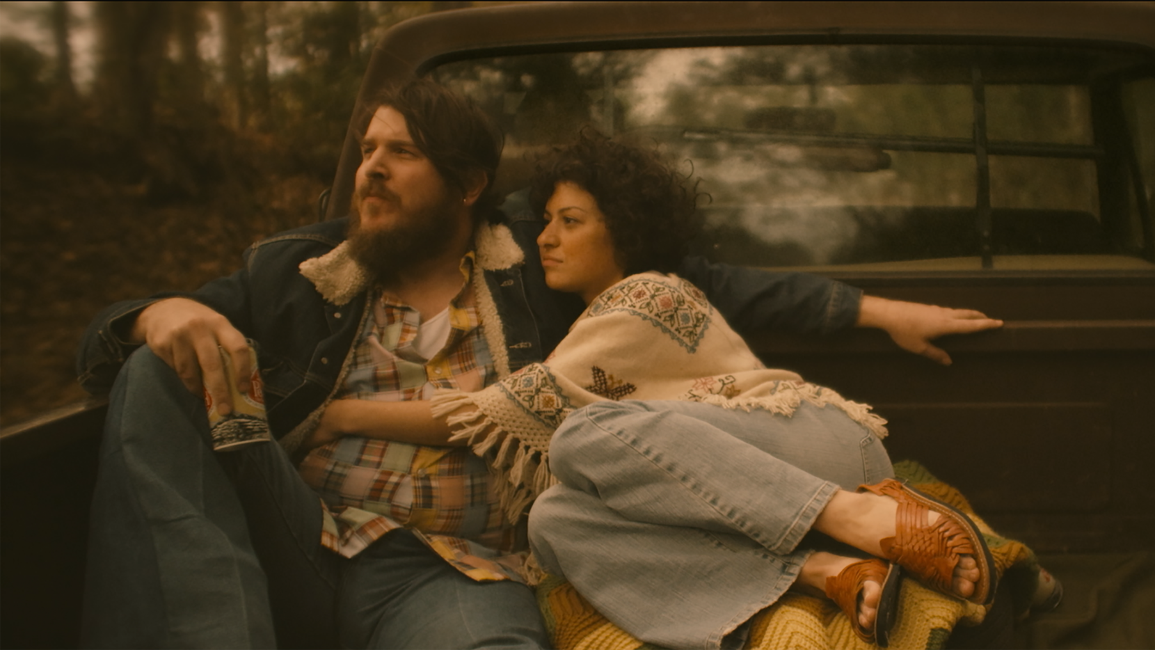 Ben Dickey and Alia Shawkat play Blaze Foley and Sybil Rosen in the new film Blaze, written and directed by Ethan Hawke.