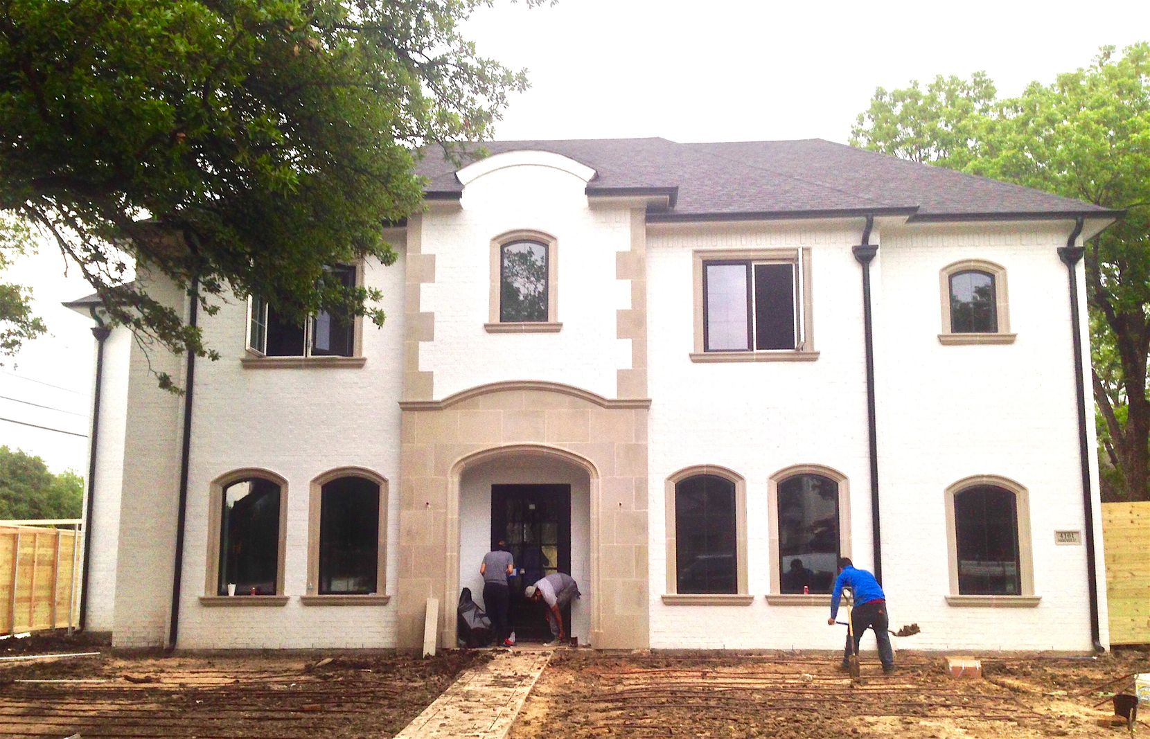 Builder Greg Payne was racing to finish his house in University Park for the Parade of Homes this weekend..