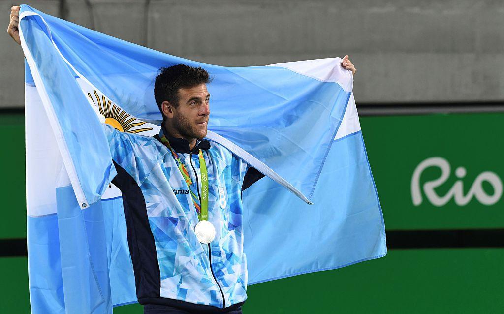 Del Potro ganó plata en tenis para Argentina. Foto GETTY IMAGES