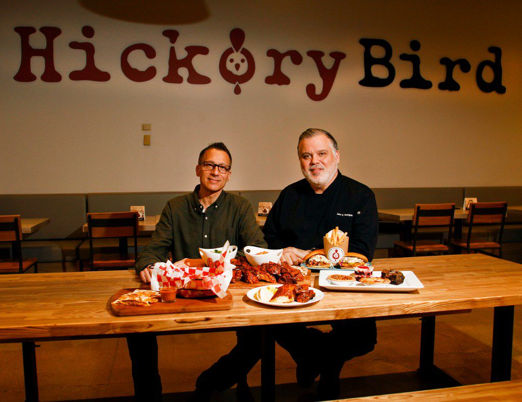 Corporate Executive Chef John K Rodriguez and President of Hickory Bird Steve Rich at the first Hickory Bird restaurant inside the Walmart in Bedford.