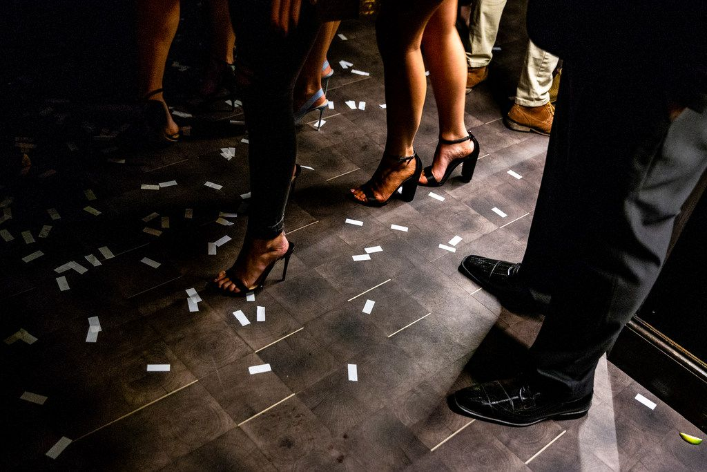 Confetti sits on the floor at One Sette in Dallas on Friday, October 12, 2018. (Shaban Athuman/The Dallas Morning News)