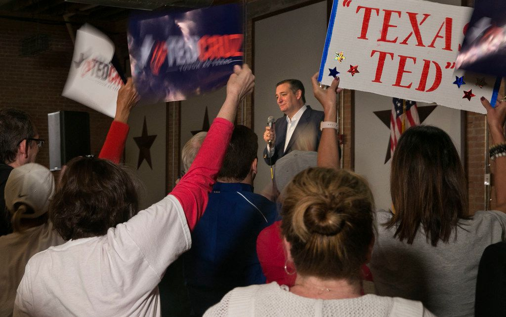 Sen. Ted Cruz  spoke during a rally at Gilley's in Dallas Wednesday.