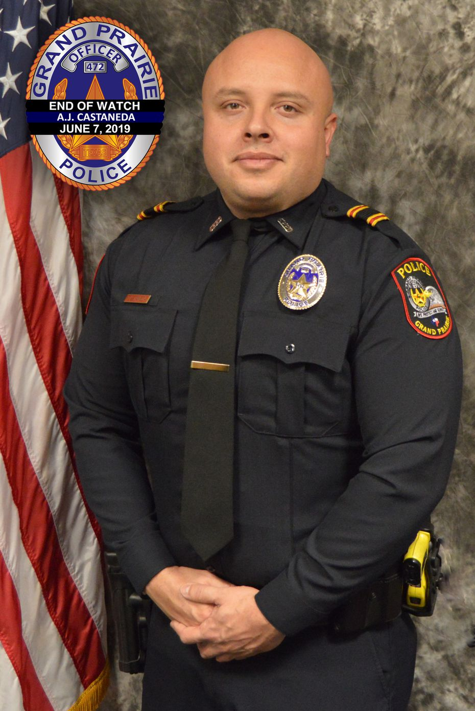 Grand Prairie police Officer A.J. Castaneda served in the department for five years. He is the third officer in the department's history to die in the line of duty.