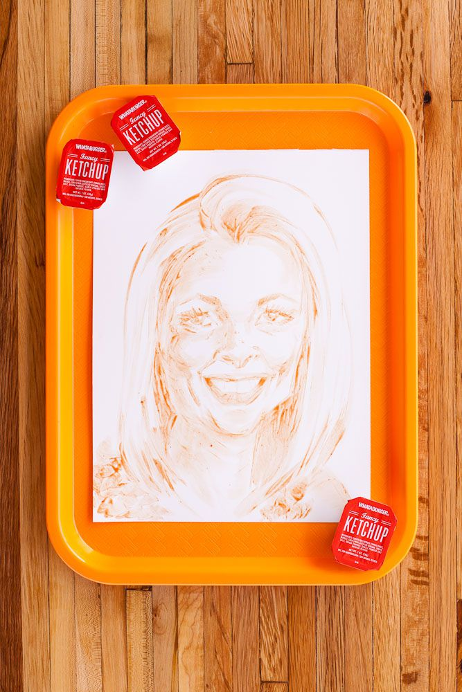 Whataburger painted my Twitter photo with ketchup. I look better in ketchup than in real life.