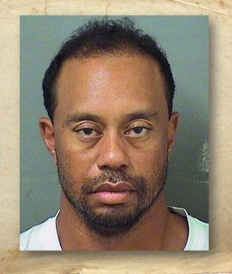 El golfista Tiger Woods al momento de su arresto en mayo.