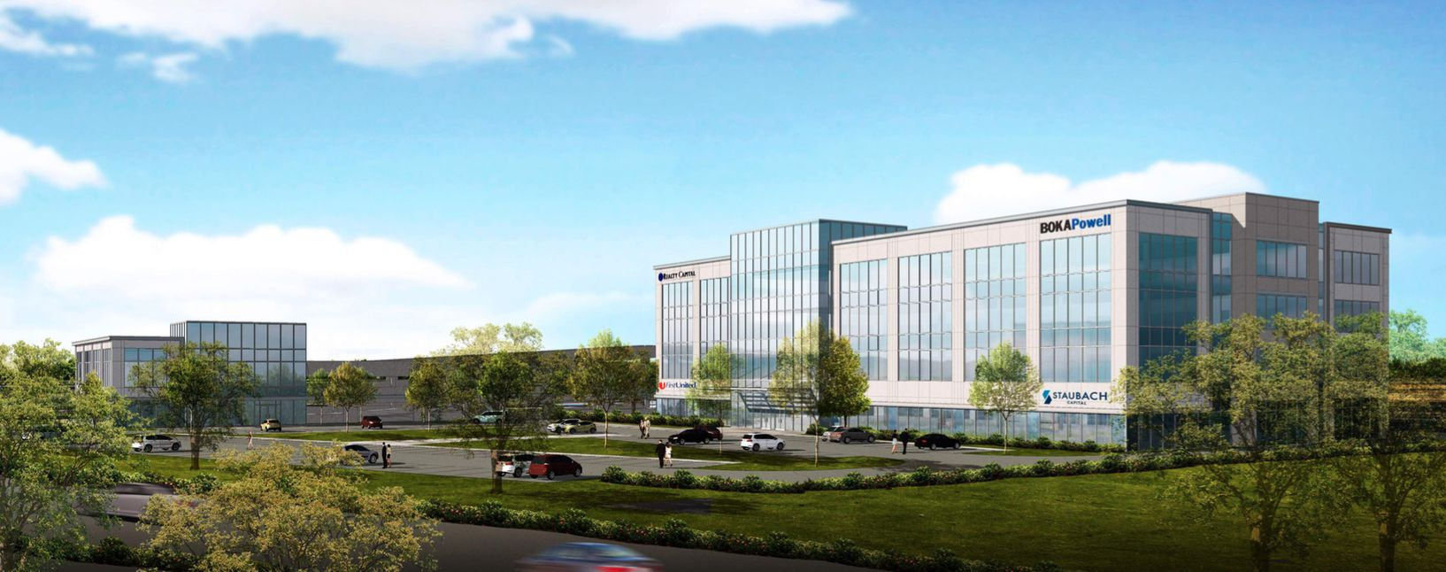 The project near FM2499 and Northwood Drive will be Flower Mound's largest new office development.