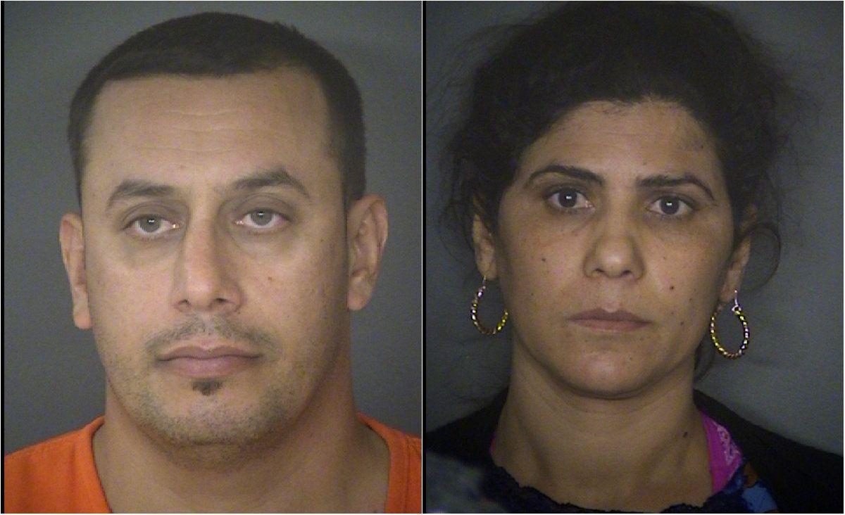 Abdulah Fahmi Kala Al Hishmawi, left, and Hamdiyah Sabah Al Hishmawi were arrested Friday.